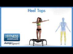 ▶ JumpSport Fitness Trampoline Workouts - Heel Taps - YouTube