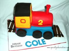 Toy Train Cake