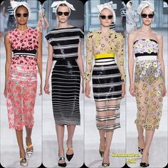 Giambattista Valli Couture FW '14  Stylist Picks: Giambattista Valli took inspiration from the Alhambra Gardens in Spain. I love the Fifties vibe and contrasting stripes with florals.  Source: oncewheniwas.com