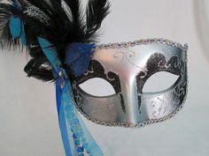 Masquerade Mask silver Masquerade ball mask Gold by PartyFetti