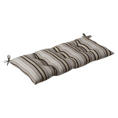 Pillow Perfect Outdoor/ Indoor Getaway Stripe Black Swing/ Bench Cushion