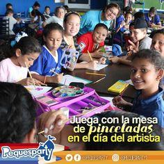 Hoy es el #DiaDelArtista en Venezuela y la mejor forma de conmemorarlo es con nuestra mesa de pinceladas . . . #pequesparty #artista #pinceladas #mcbocity #niñosmaracaibo #niños #momentos #buenastardes #diversion