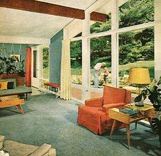 Vintage Mid Century Modern Decorating Ideas Book Interior Eichler Eames 1960