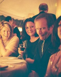 Lucky were the guests (like Martha Stewart, left) who were seated with comedian and actor Robin Williams at this wedding reception in Connecticut.