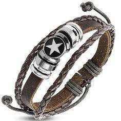 Bohemian bruine leren armband gipsy look
