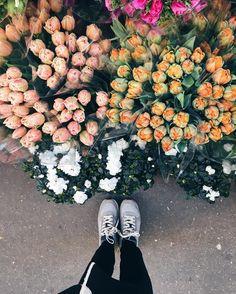 Flowers Parisiense Para colorir seu domingo Bom dia! #eurotrip #carolnaeuropa