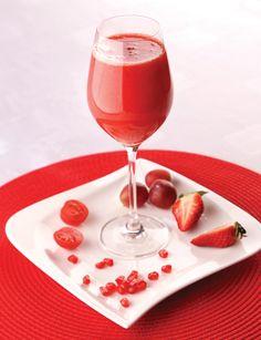 ZDRAVÉ SRDCE (odšťavíme: cherry paradajky, jahody, granátové jablko, ružové hrozno...)