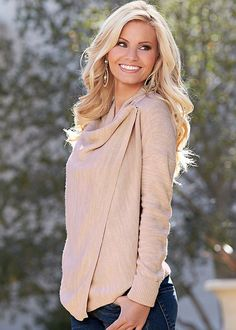 Venus Women's Snap Closure Cardigan Sweaters - Neutral/white, Size S