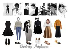 """Steal Her Style: Audrey Hepburn"" by caterineevita on Polyvore featuring Whistles, M&Co, Nordstrom, Rumour London, Loro Piana, Chicwish, IRO, Topshop, American Eagle Outfitters and C/MEO COLLECTIVE"