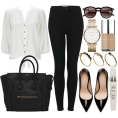 Style #3711 by vany-alvarado on Polyvore featuring moda, Wallis, Topshop, Zara, ASOS, MARC BY MARC JACOBS, Wildfox and Nails Inc.