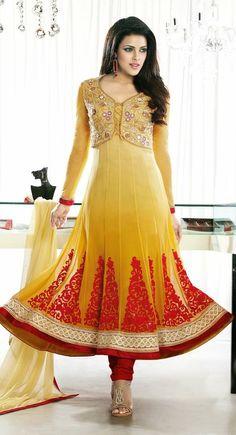Mesmerizing Gold Color Salwar Kameez