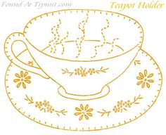 embroidery teapot holder 25 Free Embroidery Patterns