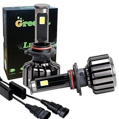 Green-L COB All-in-One 360 Degree LED Headlight Bulbs 9005 90W 9800lm Conversion Kit High Low Beam 6000k Cool White 2 Yr Warranty(Pack of 2)