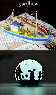 I love that globe!!! Adventures on the high seas! Make your own boat with our DIY kit and get ready for some awesome treasure hunting adventures.
