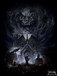 As ilustrações de terror com um toque heavy metal e vintage de Uwe Jarling