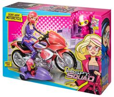 Barbie Spy Squad Secret Agent Motorcycle & Techbot Pet~New Free US Shipping Doll Clothes Barbie, Barbie Doll House, Girl Toys Age 5, Toys For Girls, Barbie Puppy, Mattel Barbie, Barbie Cars, Barbie Stuff, Creative Bookmarks