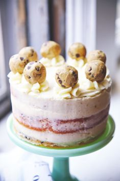 // Cookie Dough Cake