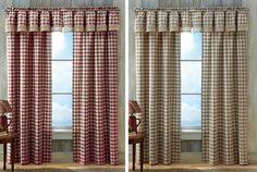 Buffalo Check Country Curtain Panel