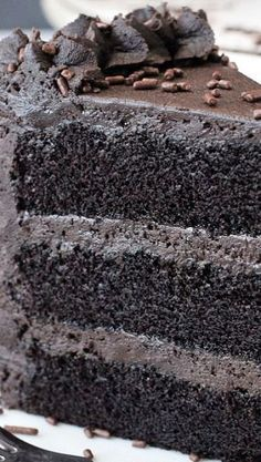 Best Chocolate Cake Recipe ~ This Chocolate Cake is seriously the best, So moist and chocolatey...  it should be illegal.