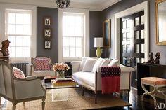 dam images celebrity homes brooke shields brooke shields david flint wood new york home 03 living room