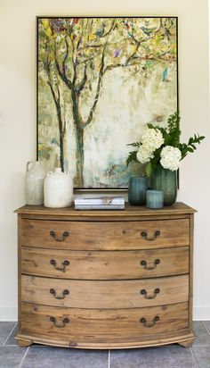 Vintage French Soul ~ Wooden chest of drawers