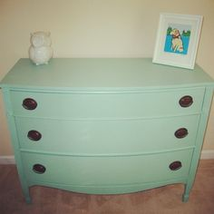 Love this color on this refinished desk.  Martha Stewart Hummingbird Blue