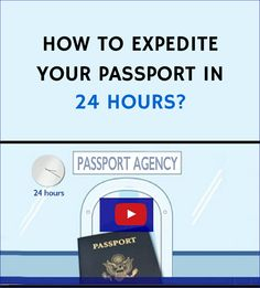 """Check out a video available on this page from Rush My Passport (one of the registered passport expeditors), showing three easy steps """"How to expedite your passport in 24 hours""""."""