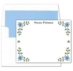 Dainty Flower Flat Note Cards