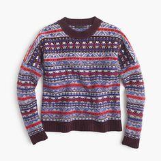 Fair Isle crewneck sweater : sweaters | J.Crew