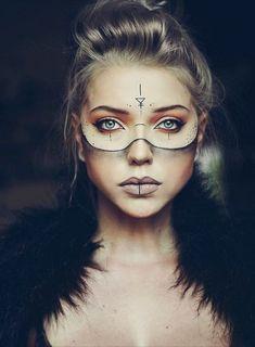 Paulina Ogłódek - Halloween Makeup - Wasser - Paulina Ogłódek – Halloween Make-up – # Ogłódek - Makeup Inspo, Makeup Inspiration, Beauty Makeup, Eye Makeup, Makeup Ideas, Demon Makeup, Makeup Geek, Krieger Make-up, Viking Makeup