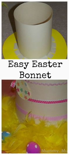 Super Easy Easter Bonnet #Easter #EasterBonnet