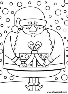 Practice Action Verbs With We Wish You A Merry Christmas Coloring Pages From The Super Simple Learning Resource Center