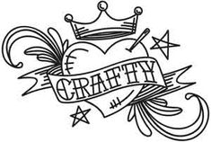 Crafty Tattoo | Urban Threads: Unique and Awesome Embroidery Designs