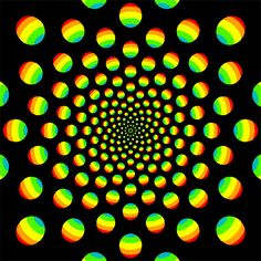 Optical Illusion Gif, Cool Optical Illusions, Art Optical, Illusion Art, Psycadelic Art, Op Art, Fractal Design, Fractal Art, Illusion Pictures