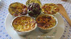 La ricetta degli sformatini di carciofi e ricotta con aggiunta di gruviera; un delizioso antipasto o un delicato accompagnamento a piatti più elaborati.