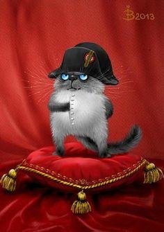 Napoleonic Puss from  Коты минской художницы Ирины Зенюк