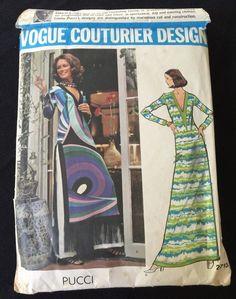 VTG PUCCI VOGUE COUTURIER DESIGN 2713 SEWING PATTERN  SZ 14 Complete