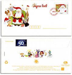 Le prêt-à-poster du Père Noël 2012 © Phil@poste, La Poste, DR.