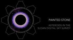 Painted Stone: Asteroids in the Sloan Digital Sky Survey on Vimeo (credit: Alex Parker) Animation showing the orbital motions of over 100,000 of the asteroids observed by the Sloan Digital Sky Survey (SDSS). Colors illustrate the different compositions and relative sizes of each asteroid are also illustrated. The average orbital distances of Mercury, Venus, Earth, Mars, and Jupiter are illustrated with rings.