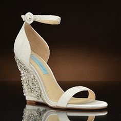 7ffa425efa4 Alisa by Betsey Johnson at My Glass Slipper. Wedding ShoesDream ...