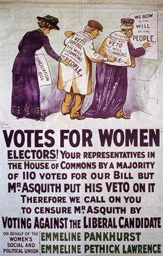 Votes For Women - calling out the political maneuvering