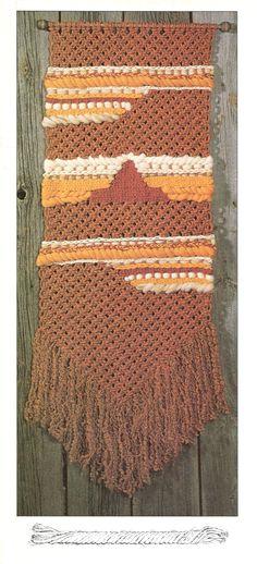 Macrame Wall Hanging Patterns, Macrame Patterns, Hanging Wall Art, Pot Hanger, Wall Hanger, Hangers, Pattern Books, Pattern Art, 1970s