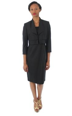 fe61889598c Kasper Womens Subtle Chic Dress and Jacket Suit Black)
