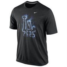 Nike L.A. Dodgers Black Legend Vapor Logo Dri-FIT T-Shirt