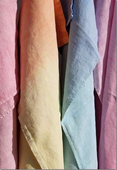 Antique french linen. #fabric #ombre #pastel