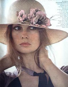 Jean Shrimpton in Sunday Times Magazine, UK, June, 1971. Photo by Hans Feuer.