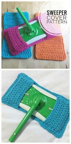 GENIUS! Use this swiffer sweeper cover crochet pattern!! Throw in the wash, save money! (affiliate link)