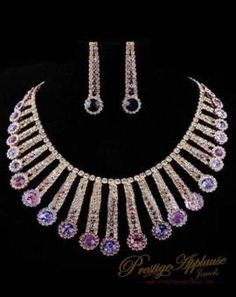 a handmade purple crystal silver plated http://www.prestigeapplause.com/product/purple-crystal-silver-plated-earring-necklaces-jewellery-set/