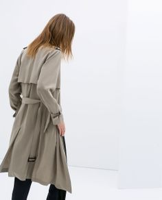 View 14 Best zara long a line trench coat images Black Raincoat, Hooded Raincoat, Grey Coats For Women, Jackets For Women, Long Grey Coat, Revival Clothing, Zara Fashion, Raincoats For Women, Destroyed Jeans
