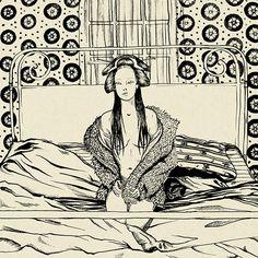Day in the life of a geisha on Behance #drawing #art #illustration #digitalart #geisha #japanese #pattern